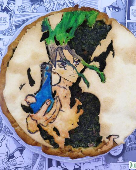 Torta salata alla ricotta, spinaci e pancetta di Senku Ishigami