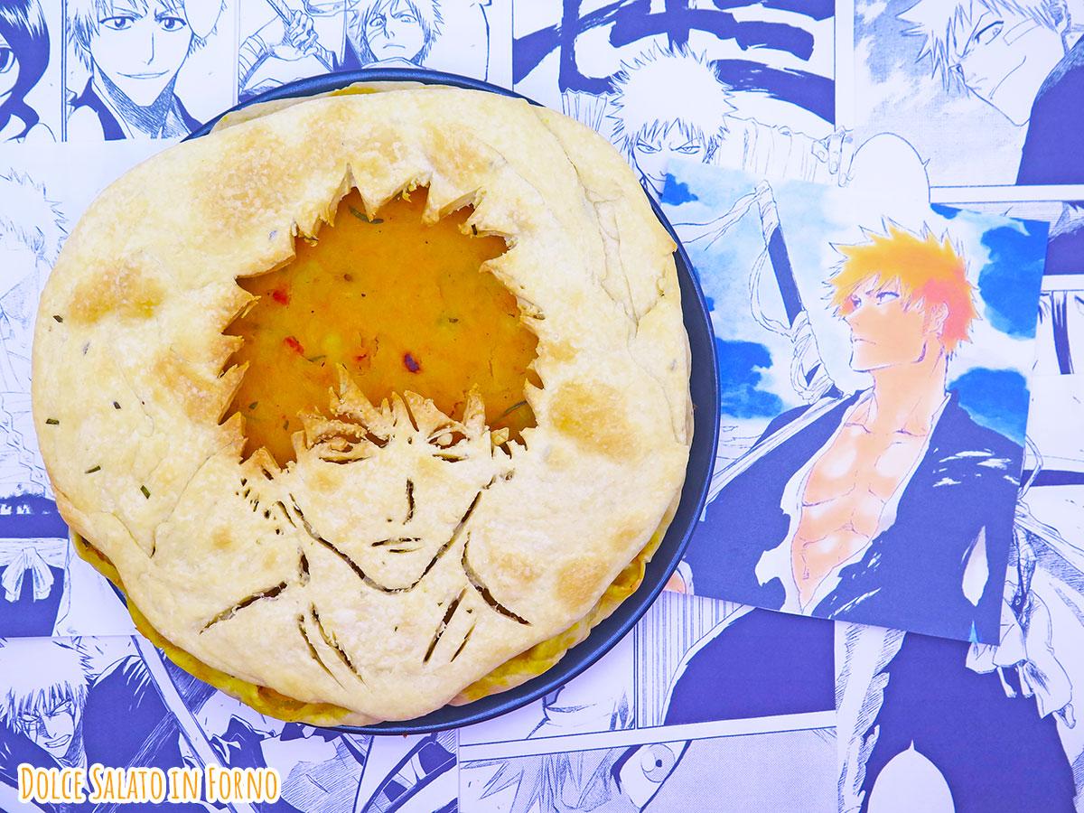 Torta salata zucca patate e pancetta di Ichigo Kurosaki di Bleach