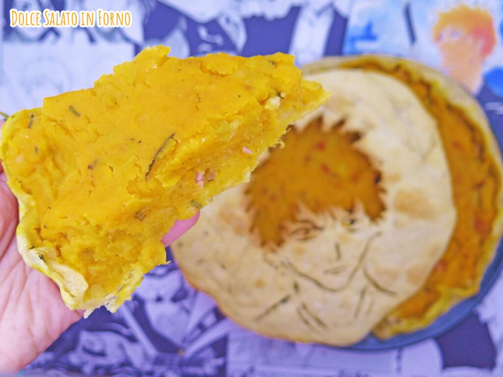 Fetta di torta salata zucca patate e pancetta di Ichigo Kurosaki di Bleach