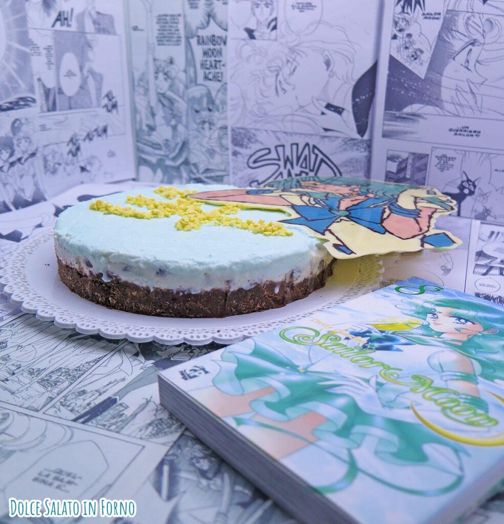 Torta senza cottura ricotta menta cocco e cioccolato di Sailor Neptune Michiru Kaioh