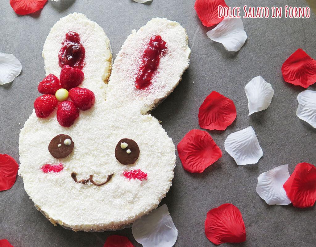 Torta senza cottura yogurt senza burro coniglietto