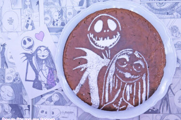 Torta tenerina senza glutine Jack e Sally Nightmare Before Christmas