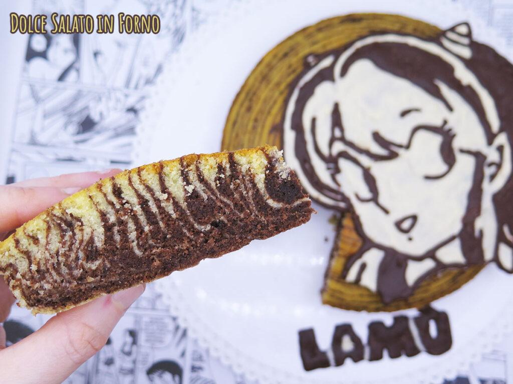 Torta zebrata senza burro di Lamù