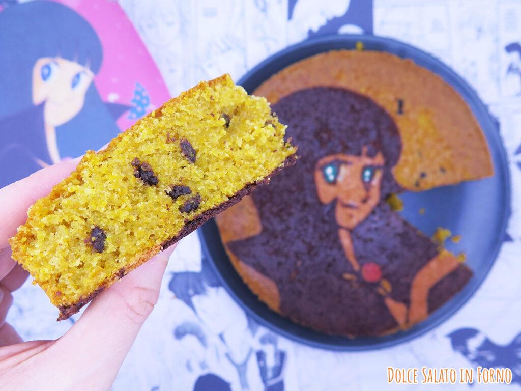 Fetta di torta alla zucca e cioccolato di Ranze Eto di Tokimeki Tonight