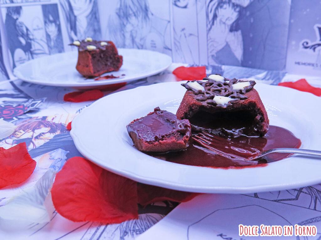 Tortini al cioccolato dal cuore caldo red velvet di Vampire Knight