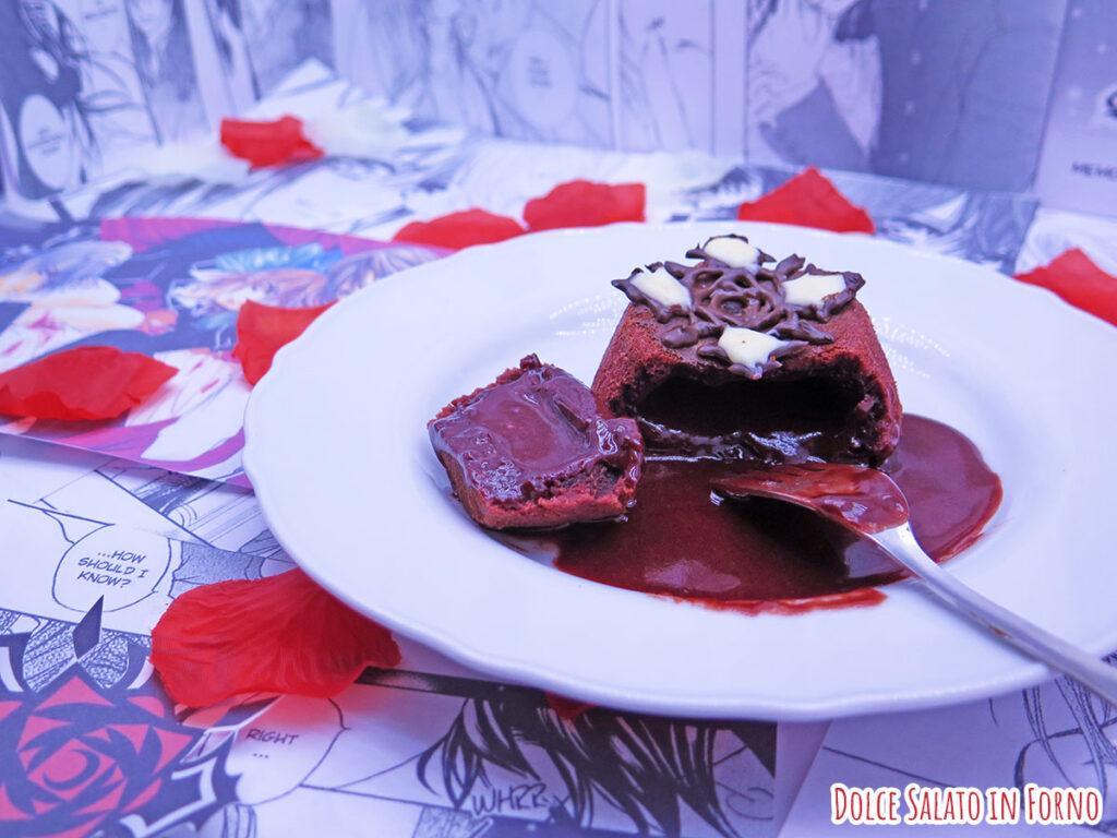 Tortno al cioccolato dal cuore morbido red velvet di Vampire Knight