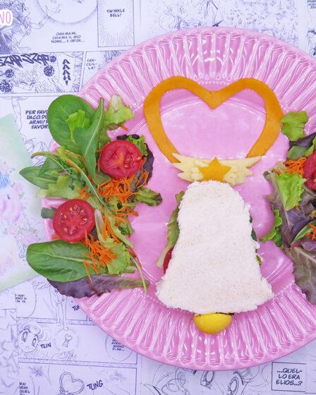 Tramezzino vegetariano a forma di campana di Chibiusa