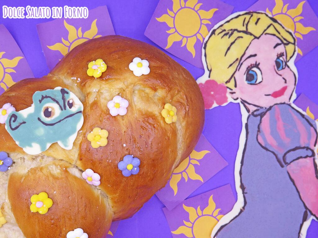 Treccia di pan brioche dolce di Rapunzel