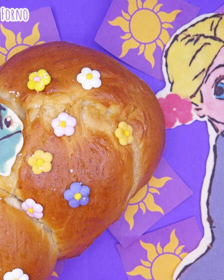 Treccia di pan brioche di Rapunzel
