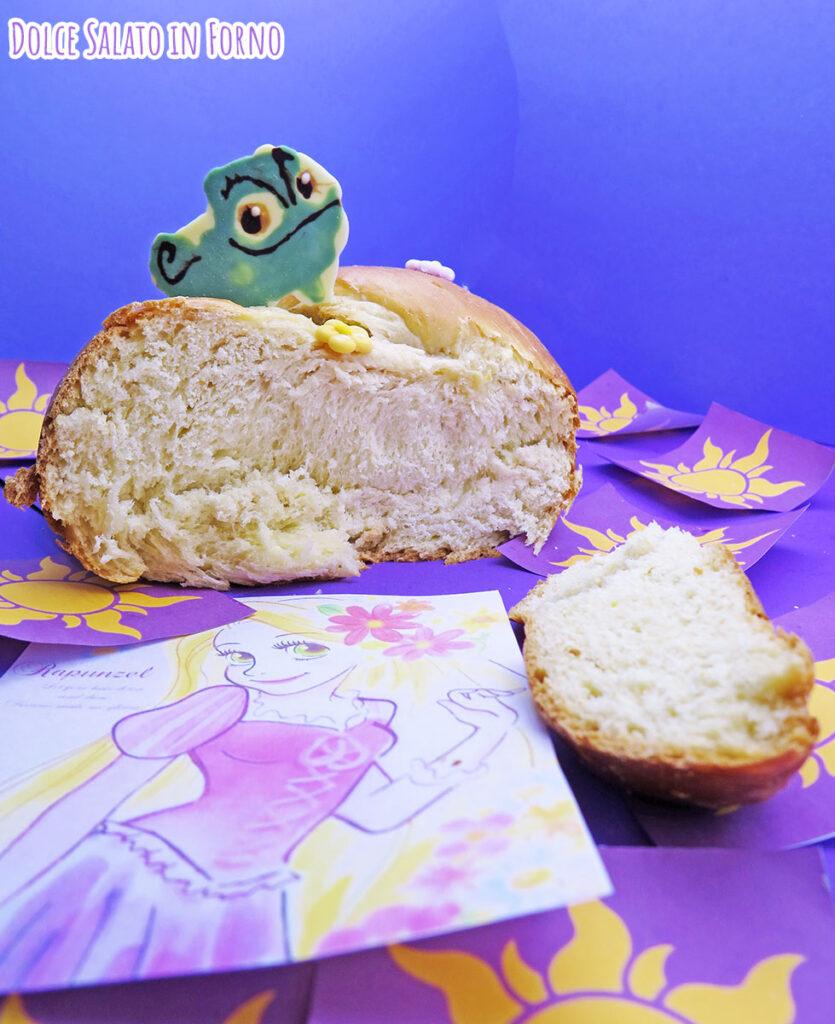 Treccia di pan brioche dolce di Rapunzel e Pascal
