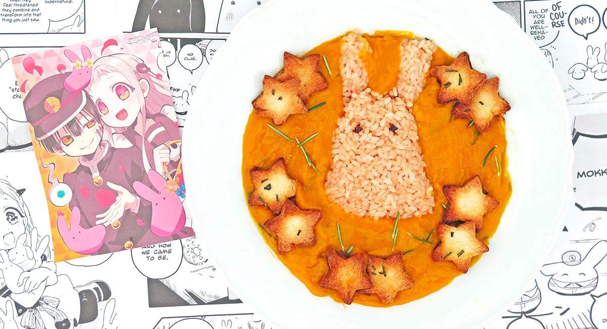 Vellutata zucca patate dei Mokke di Hanako-kun